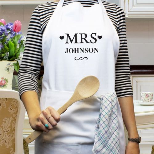 Personalised Mrs  Apron